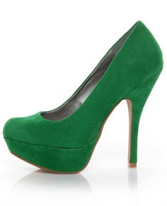 I don't wear heels but would wear these.. even for just a minute.. GREEN!!