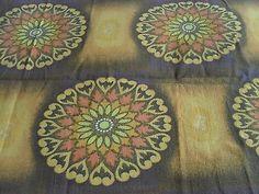 1.3 Metre Vintage 1960's Barkcloth - Abstract Design - Jyoti Bhomik?