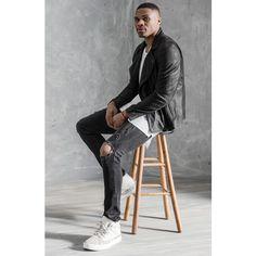 True Religion Brand Jeans x Russell Westbrook Black Leather Moto. Nba Fashion, Mens Fashion, Fashion Guide, Fashion Ideas, Line Jackets, Men's Jackets, Mens Sherpa, Perfect Beard, Mens Fur