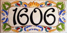 Decorative Tile House Numbers House Number Plaques Hand Painted Italian House Numbers Ceramic