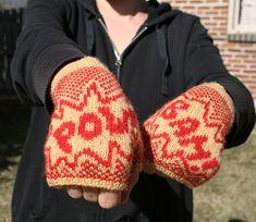 Knitting Pattern PDF  Superhero Mitts by Wattsolak on Etsy, $5.00