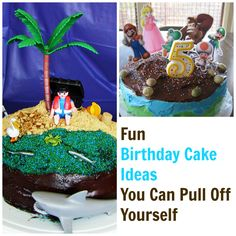 Fun Birthday Cake Ideas You Can Pull Off Yourself  - these cake ideas are simple, inexpensive, and SUPER FUN for kids. http://lifeasmom.com/birthday-cake-ideas/
