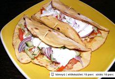 Tortilla kukoricaliszttel Hungarian Recipes, Tortillas, Baguette, Scones, Hamburger, Tacos, Paleo, Food And Drink, Gluten
