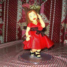 Topo de Aniversário 50 anos Biscuit #PorcelanaFria #Biscuit #Birthday #50Anos #Topper #Personalizado #CoisasDeLaurinha