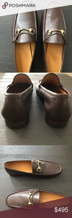 GUCCI Brown Leather Loafer; NEW IN BOX 373627 GUCCI Brown/Chocolate Leather Horsebit Loafer; NEW IN BOX, Unworn; #373627; Brass Hardware; Leather Sole; Made in Italy; 9.5UK/10.5US BRAND NEW Gucci Shoes Loafers & Slip-Ons