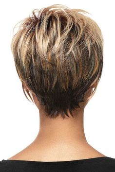 Hair Beauty - Women Blonde Ombre Inclined Bang Fluffy Short Straight European American Synthetic Wig - One Size Short Hairstyles For Women, Hairstyles Haircuts, Pixie Haircuts, Wedge Hairstyles, Stacked Hairstyles, Medium Thin Hairstyles, Short Hair Cuts For Fine Thin Hair, Short Hair For Women, Layer Haircuts