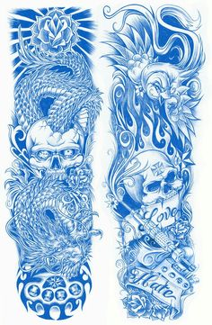 half sleeve tattoo designs and meanings Tattoo Design Drawings, Skull Tattoo Design, Skull Tattoos, Tattoo Sketches, Body Art Tattoos, Skull Design, Arm Sleeve Tattoos, Tattoo Sleeve Designs, Tattoo Sleeves
