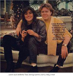 Laura Branigan 1983, with Umberto Tozzi in Italy.