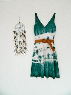 FOREST DWELLER . women's tie dye dress . size 16 by bohemianbabes