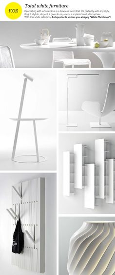 Total #white furniture: decorating with white colour is a timeless trend that fits perfectly with any style.