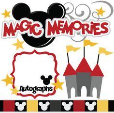 Magic Memories SVG cut files castle flourish autographs mouse ears ears border