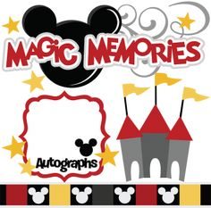 Magic Memories SVG cut files castle flourish autographs mouse ears ears border