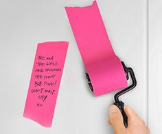 Become an organized handy-man around the house with the post-it note roller. This clever roller sticks onto almost any wall or door ,and unlike most standard sticky pads, it allows you to customize the length of the paper depending on what you need to write.