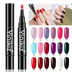 Nail Polish Pens, Gel Pens, Glue On Nails, Gel Nails, Beauty Care, Beauty Makeup, Cure Nails, Healthy Nails, Professional Nails