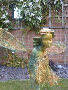 Her name means friend of the elves but with her lovely colours she looks as if she would be friendly to all who crossed her path. She can can be placed indoors or in the garden, the choice is yours. Mean Friends, The Elf, Elves, Fairies, Paths, Garden Sculpture, Indoor, Colours, Outdoor Decor