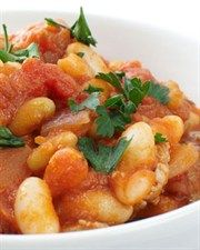 Feta Cannellini Beans; Low Fat, High Protein but A bit high in Carbs so best eaten before midday....