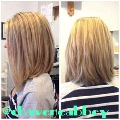 Long bob {PERFECTION} Why can't hair dressers get this right - They always cut the bob too short showing my neck!!! by kathleen