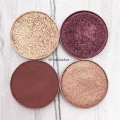 Makeup Geek Eyeshadows in Magic Act, Showtime, Pocket Change, and Cabin Fever. Picture by @futilitiesmore.