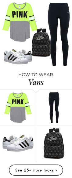 """Untitled #161"" by oriana1221 on Polyvore featuring NIKE, adidas Originals and Vans"
