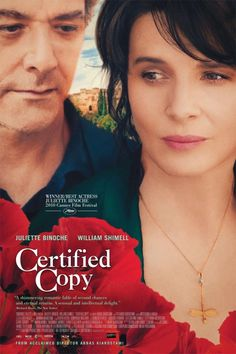 Certified Copy Movie Poster - Juliette Binoche, William Shimell  #CertifiedCopy, #MoviePoster, #AbbasKiarostami, #Romance, #JulietteBinoche, #WilliamShimell
