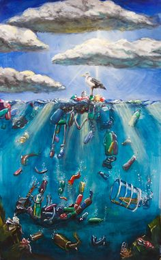 Stop littering, stop polluting our oceans, land and air! Save Planet Earth, Save Our Earth, Ocean Pollution, Plastic Pollution, Save Mother Earth, Save Our Oceans, Plastic Art, A Level Art, Ocean Art