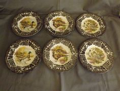 6 royal worcester palissy game series side plates