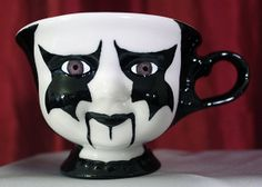 Creepy Hand Painted 3 inch Ceramic Corpse Paint by CarrionComfort, $23.00