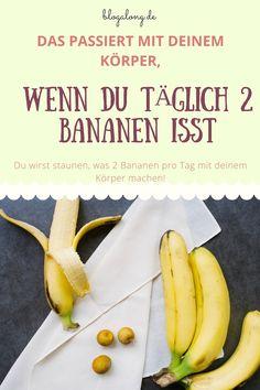 Deshalb solltest du jeden Tag 2 Bananen essen