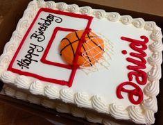 Wonderful Picture of Basketball Birthday Cake . Basketball Birthday Cake Basketball Birthday Cake Cake Recipes Creative Cakes Home Made Birthday Sheet Cakes, New Birthday Cake, Birthday Cakes For Teens, Men Birthday, Birthday Ideas, Happy Birthday, Cake Basketball, Basketball Birthday Parties, Street Basketball