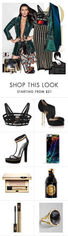 """""""If my copycats were an original, I'd be Queen Elizabeth"""" by eleonoragocevska ❤ liked on Polyvore featuring FAUSTO PUGLISI, Christian Louboutin, Gucci, Dsquared2, Forever 21, Elie Saab, Clarins, Guerlain, Yves Saint Laurent and Chanel"""