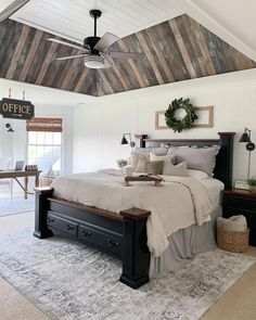 If you are looking for Farmhouse Master Bedroom Decor Ideas, You come to the right place. Below are the Farmhouse Master Bedroom Decor Ideas. Farmhouse Master Bedroom, Master Bedroom Makeover, Master Bedrooms, Master Suite, Rustic Romantic Bedroom, Rustic Master Bedroom Design, Master Master, Bedroom Country, Romantic Master Bedroom Decor On A Budget