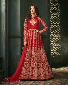 389a7e8f9f7 Hot red floor length anarkali dress for indian weddings Floor Length  Anarkali