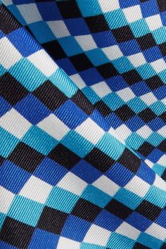 Mary Katrantzou - Thoukis Printed Silk-twill Flared Pants - Turquoise - UK8