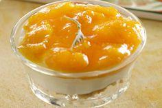 Αlmand mousse with apricot sauce Mousse, Recipies, Deserts, Pudding, Cook, Sweet, Recipes, Candy, Desserts