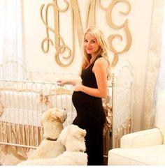 spotted on pinterest: bratt's antique white venetian crib in this dreamy cream nursery