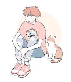 drawings of tattoo Boy Illustration, Character Illustration, Illustrations, Cartoon Kunst, Cartoon Art, Cute Art Styles, Dibujos Cute, Estilo Anime, Korean Art