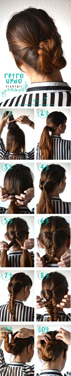 Hair | How to; Updo, braid
