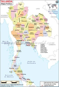 Tailandia Mapa político