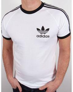 Adidas Originals Retro 3 Stripes T-shirt White