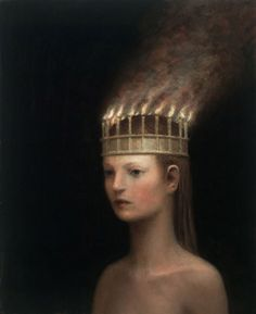 Aron Wiesenfeld - THE CROWN, oil on canvas 23x19 inches, 2011