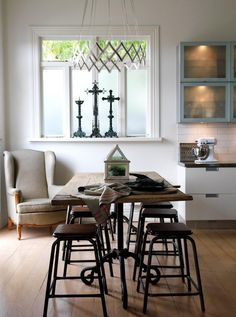 Contemporary with antique...from the kitchen of European Antiques @euroantiques