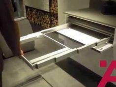 Meccanismo per tavolo estraibile con telaio di sostegno -crazy cool table