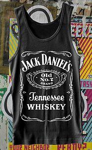 Jack Daniels Whisky Label Sleeveless Vest Tank T Shirt Classic Design All Sizes | eBay