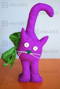 Cucito creativo, gatto fermaporta . Sewing doorstop cat