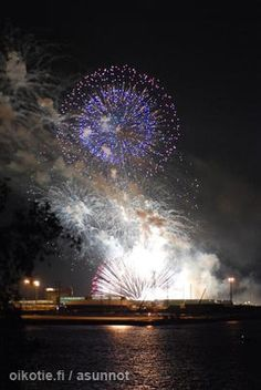 Fireworks over Jätkäsaari