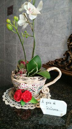 Tazza porta vaso intrecciata