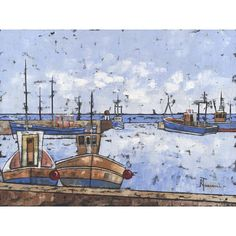 Seahouses signed limited edition print by Bob Turnbull