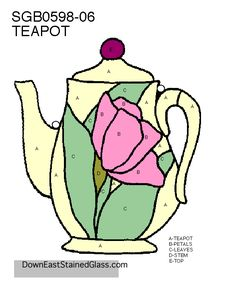 teapot stained glass pattern