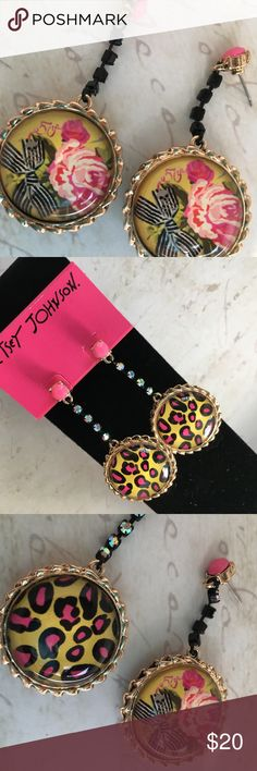 BETSEY JOHNSON 50th Anniversary Crystal Drop BETSEY JOHNSON 50th Anniversary Reversible Crystal Drop Earrings   Brand NWT **All pieces AUTHENTIC**.... !!Guaranteed 100%!!  Please RESPECT my Items are already being sold at lowest possible prices (to include PM fees). Thank you for shopping my closet! Betsey Johnson Jewelry Earrings