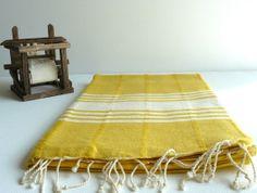 Peshtemal Towel Turkish Towel Woven Peshtemal by DokumaAtelier